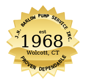 Barlow pump offering well and water pump services since 1968 seal graphic